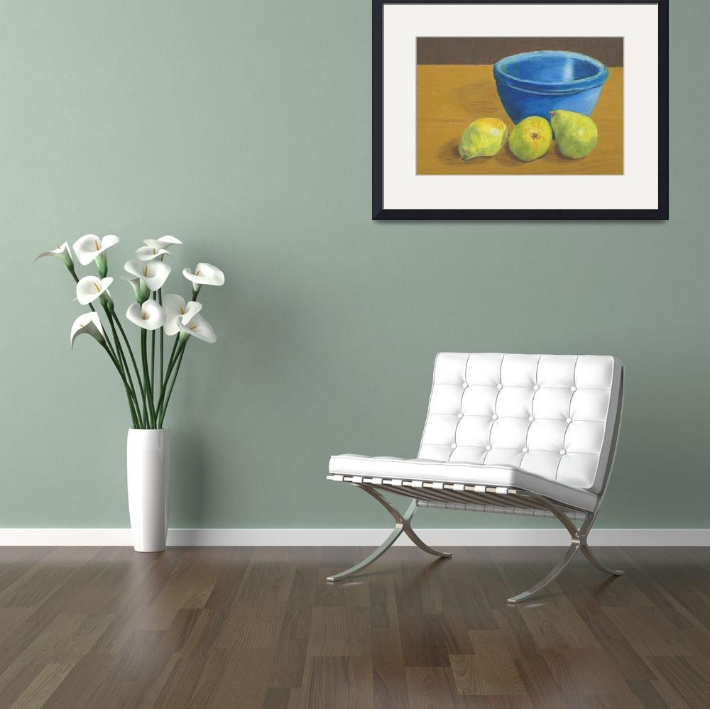 """""""Pears and Bowl&quot  (2008) by RedPine"""