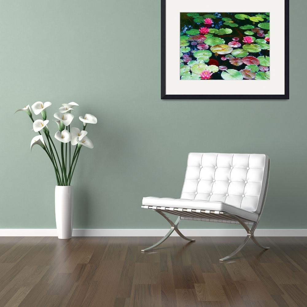 """""""Pond Lilies&quot  (2017) by zap"""
