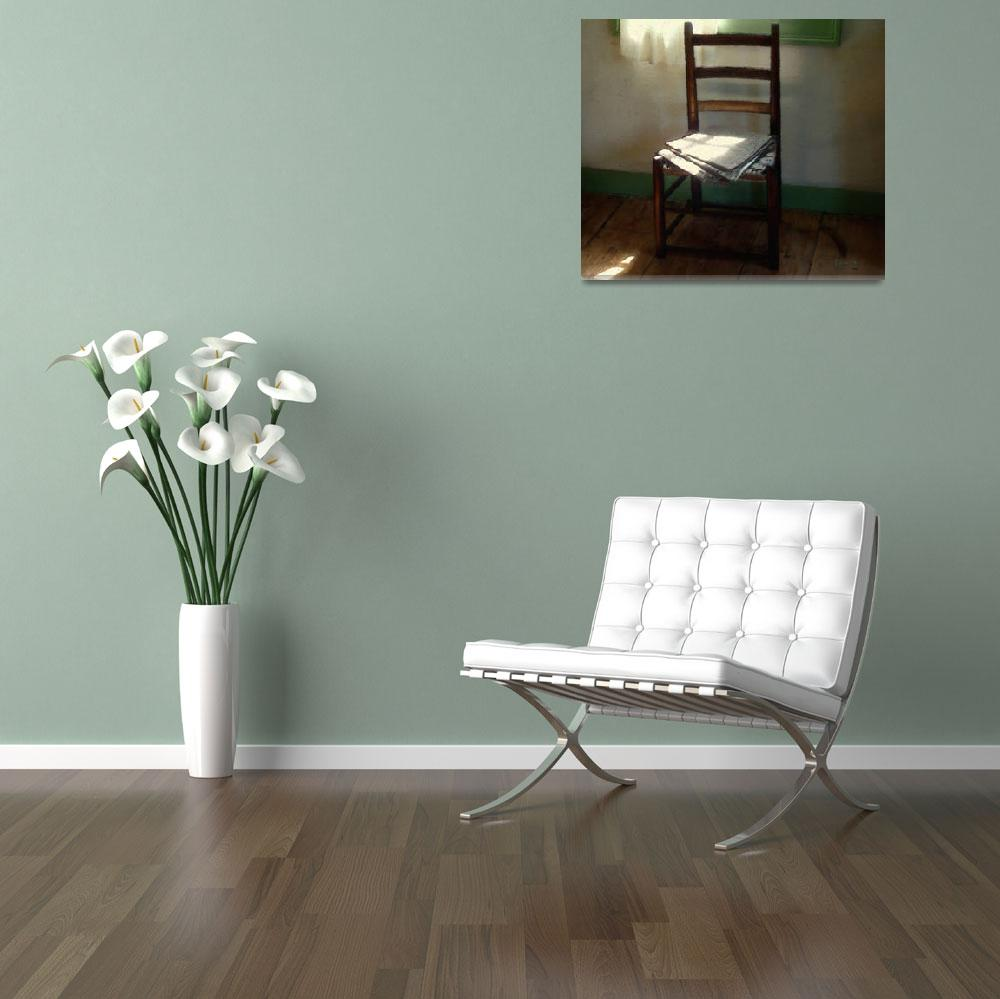 """""""Still Life with Straight Chair&quot  (2009) by RCdeWinter"""