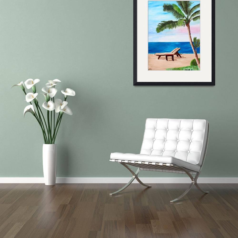 """""""Caribbean Strand with Beach Chairs&quot  (2012) by arthop77"""