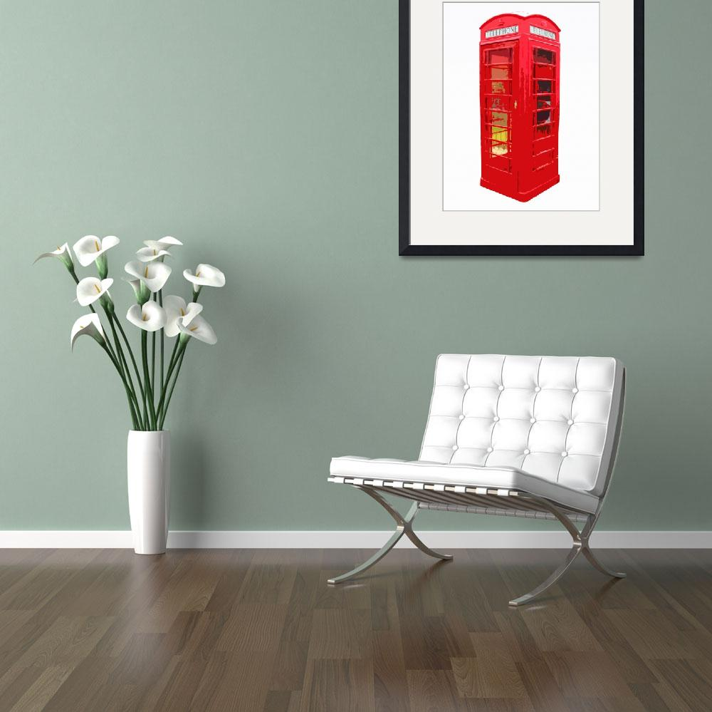 """""""Red British Telephone&quot  (2010) by whitewallgallery"""