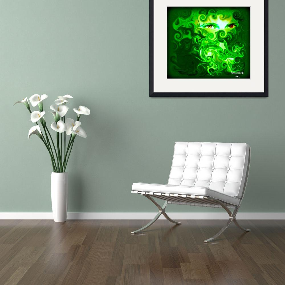 """""""Green with Envy&quot  (2009) by angelabranigan"""