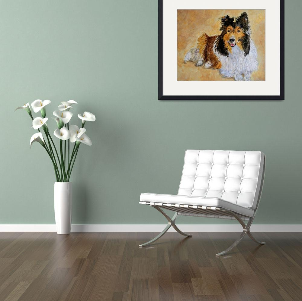 """Lenny the Sheltie""  (2010) by mozache"
