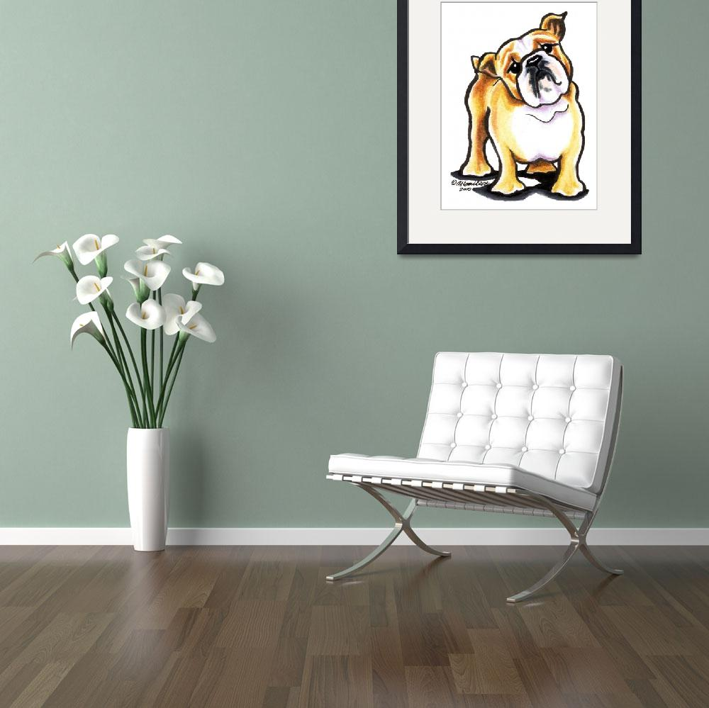 """""""Bulldog Say What&quot  (2010) by OffLeashArt"""