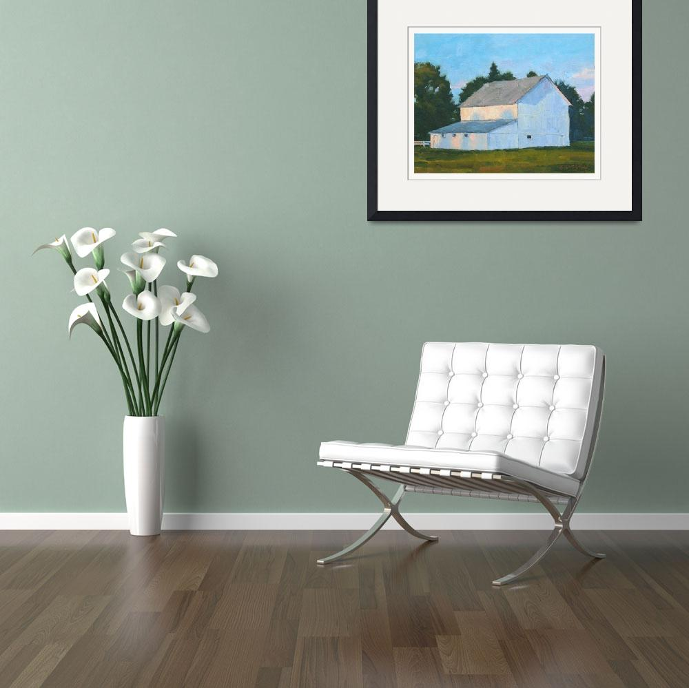 """""""Early light-white barn&quot  by davidwesterfield"""