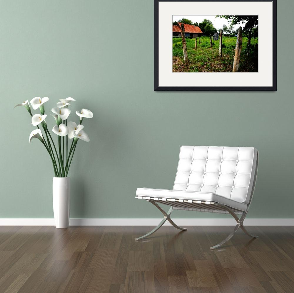 """""""Farmhouse Artistic Landscaping&quot  by JessicaShellPhotography"""