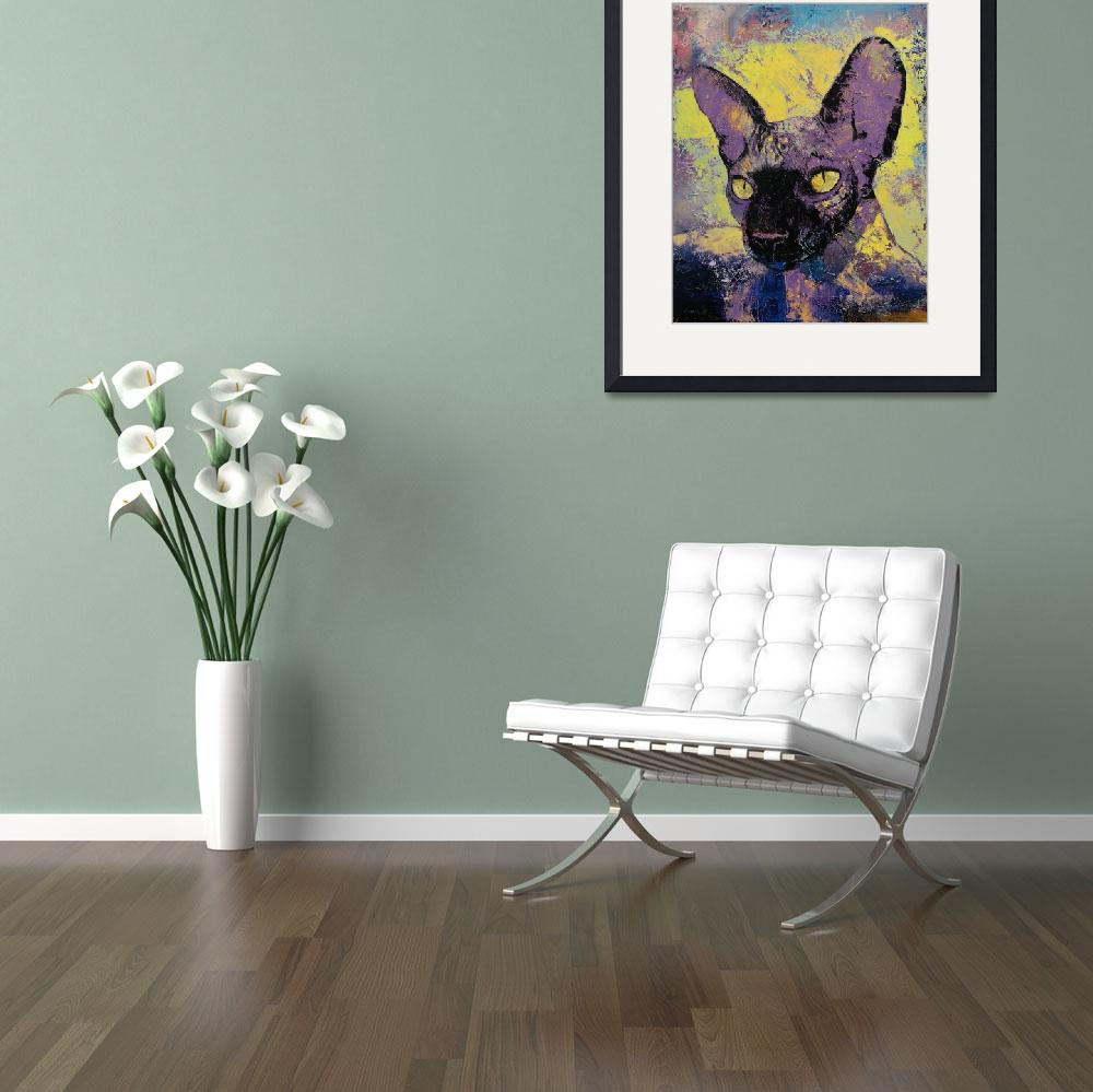 """""""Sphynx Cat Painting&quot  by creese"""