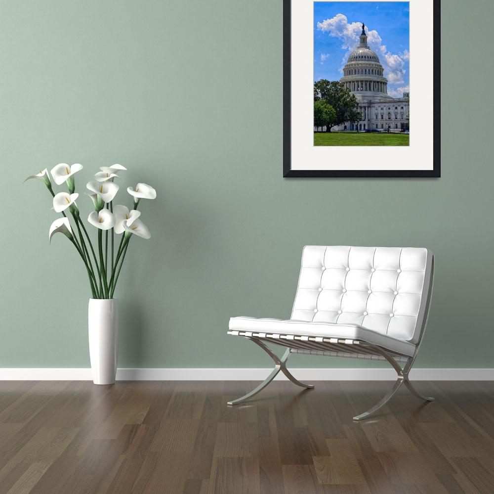 """""""Blue Sky and the US Capitol Building&quot  (2017) by DougSwanson"""