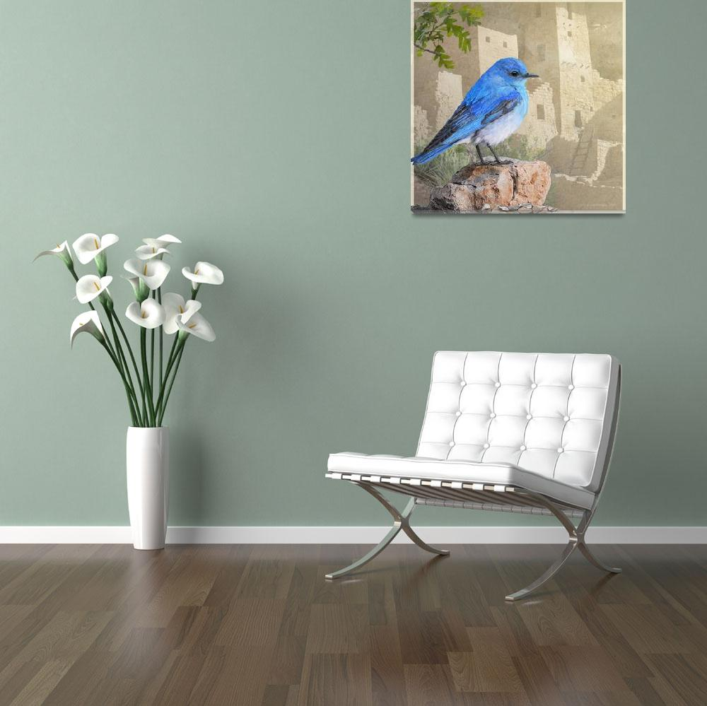 """""""bluebird at the cliff palace""""  (2016) by rchristophervest"""