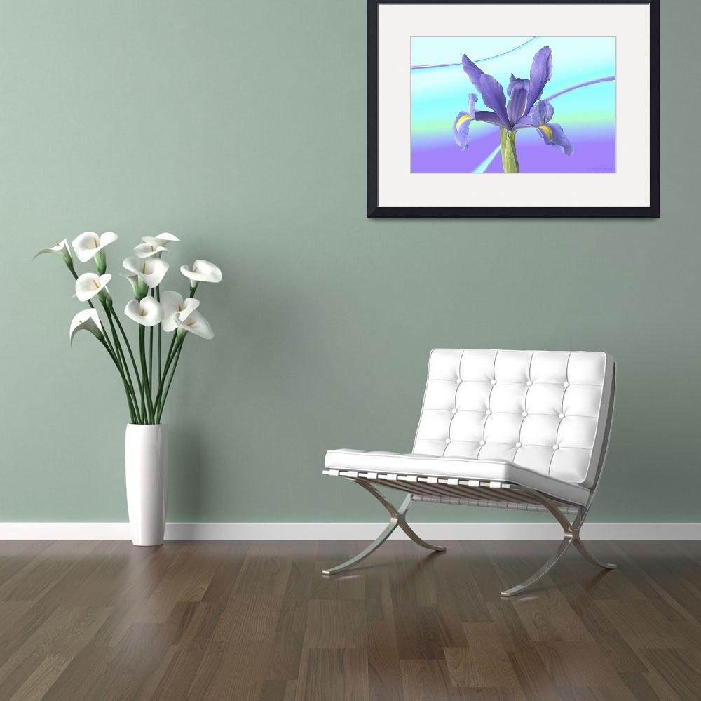 """""""Abstract flower collection (06 of 16)&quot  (2012) by WallArtDeco"""