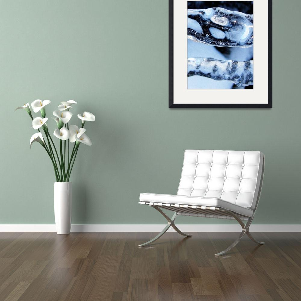 """""""Buy Art Photography - Blue Cold Abstract Art Print""""  by word1001"""