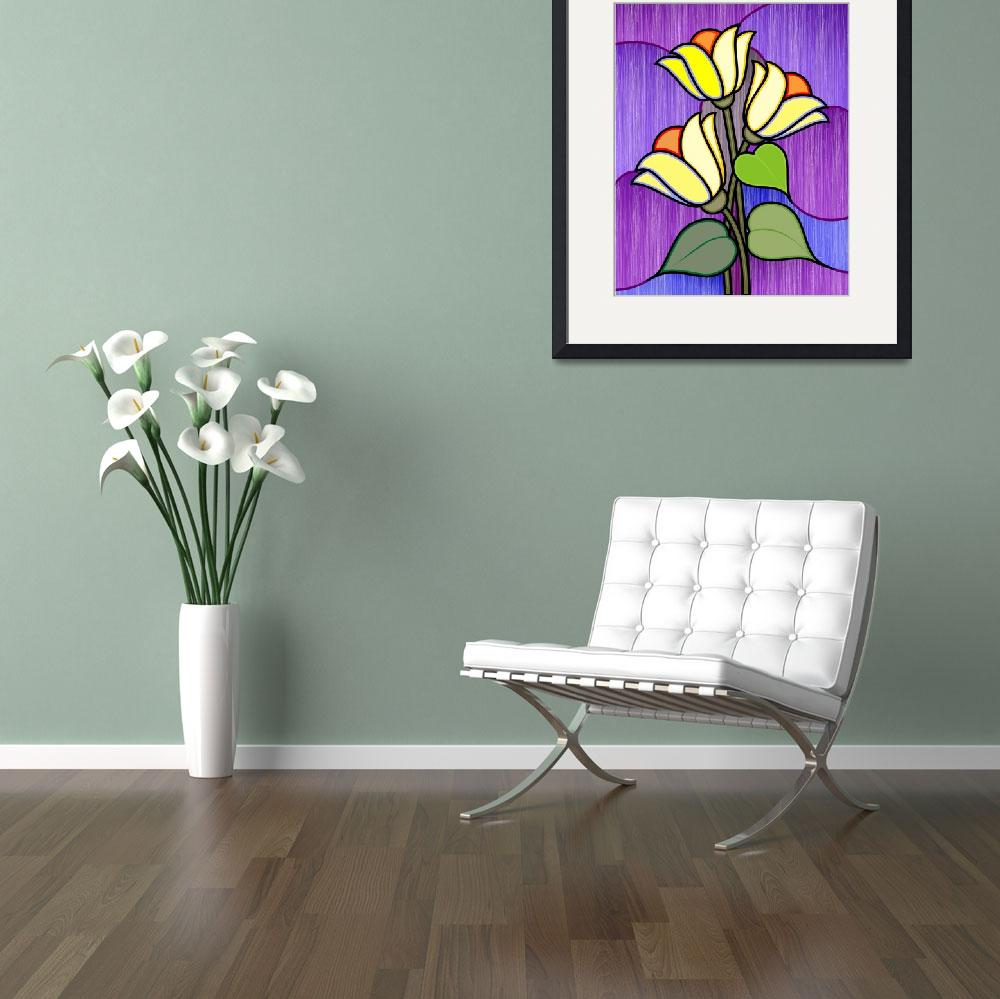 """""""Plant and flower&quot  (2009) by digitalpainting"""