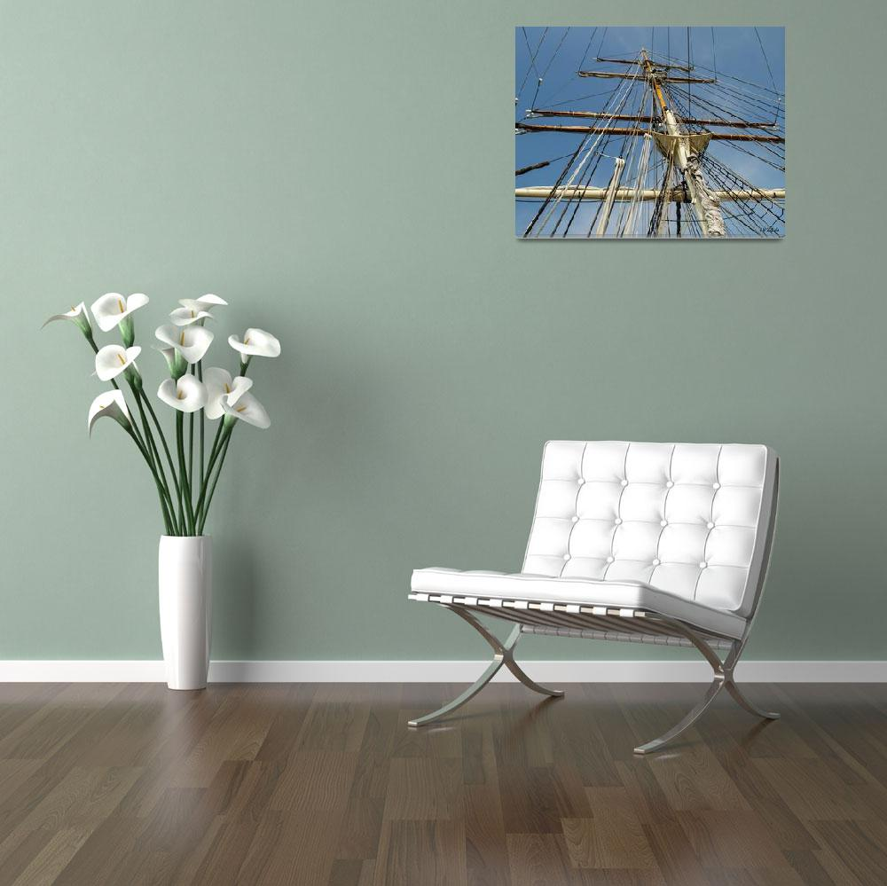"""""""Tall Ship Elissa Rigging 1&quot  (2013) by awsheffield"""