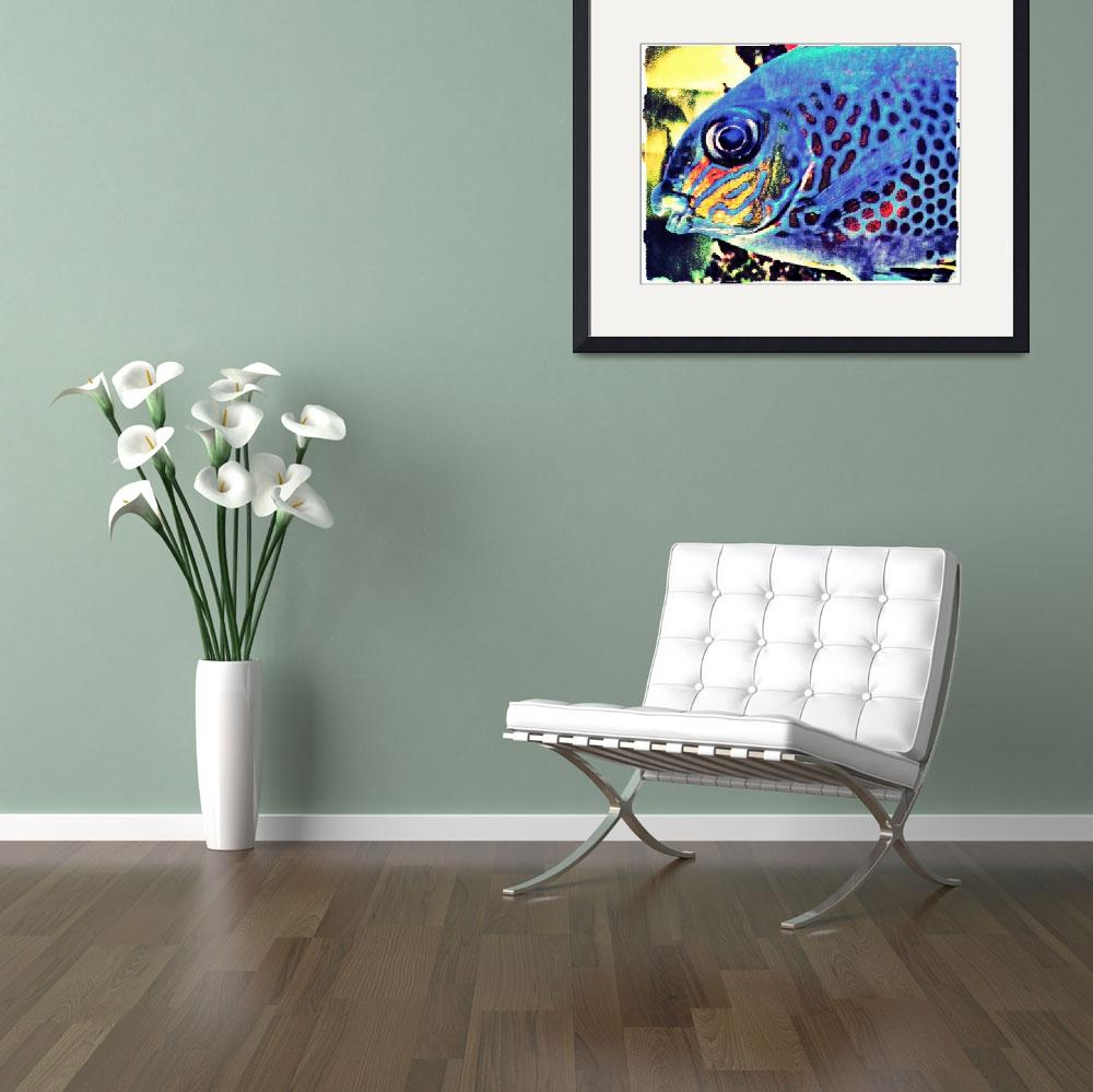"""Blue Tropical Fish Art Work&quot  (2012) by MissDawn"