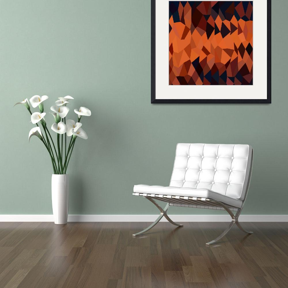 """""""Persimmon Orange Abstract Low Polygon Background&quot  (2015) by patrimonio"""