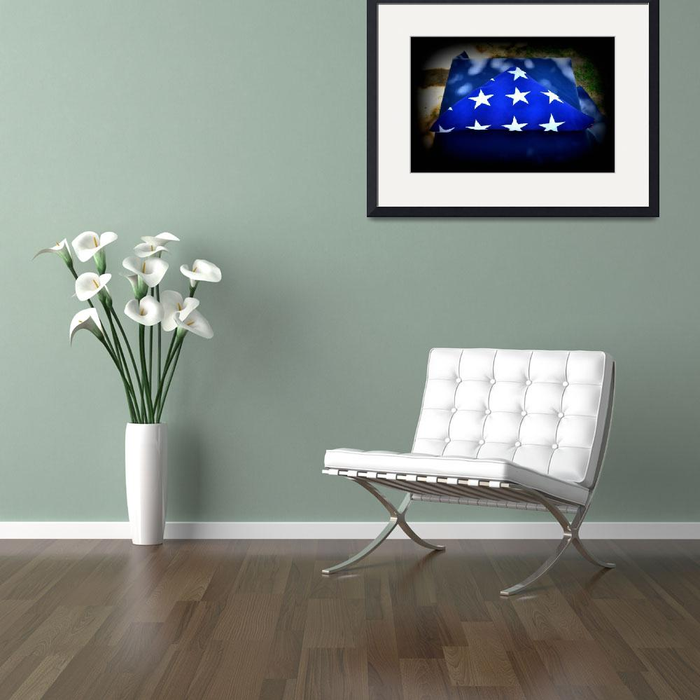 """""""Memorial Flag&quot  (2013) by artographic66"""