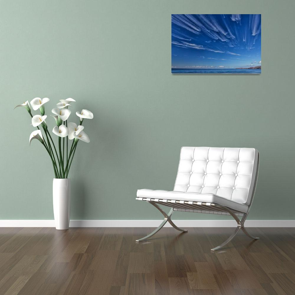 """Blue Sky Cloud Race""  (2012) by derekbeattieimages"
