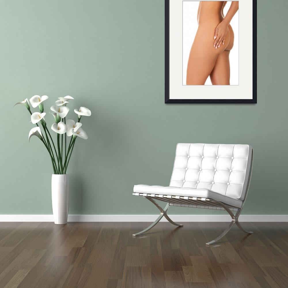 """""""Sexy buttock and a hand on it. Isolated on white.&quot  by Piotr_Marcinski"""