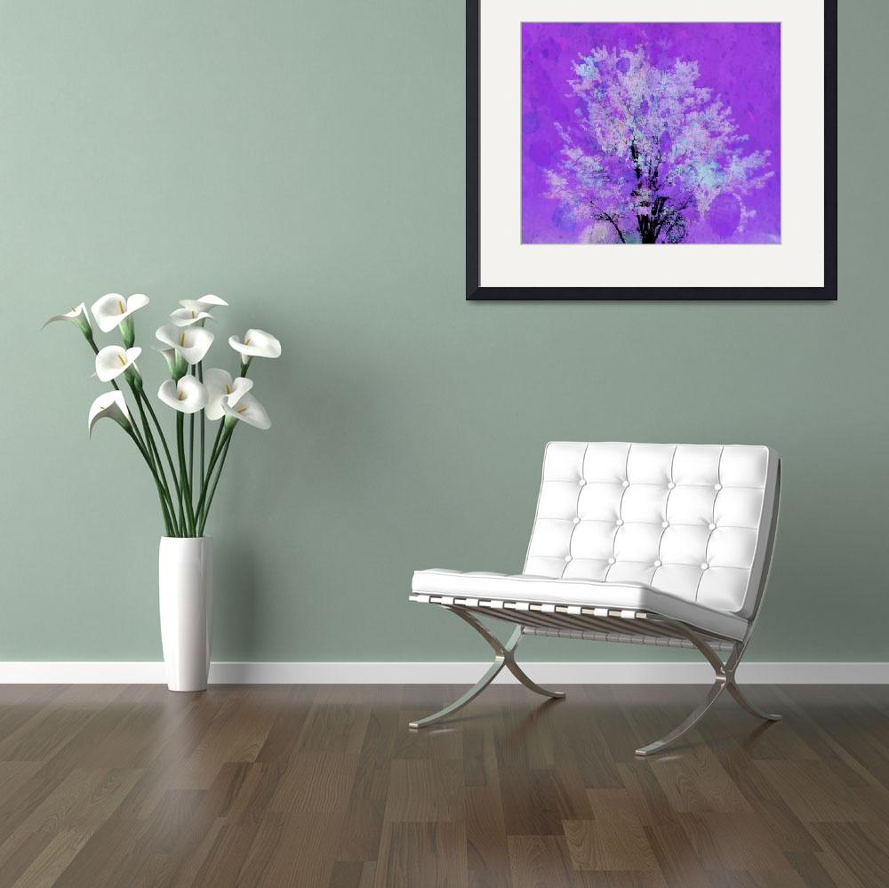 """""""tree 2 purple artistic&quot  by lizmix"""
