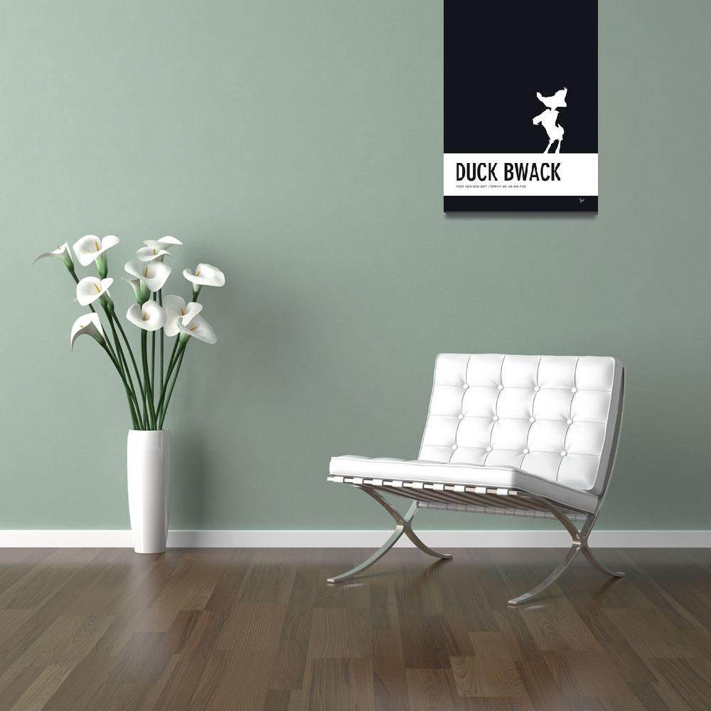 """""""No03 My Minimal Color Code poster Daffy Duck""""  by Chungkong"""