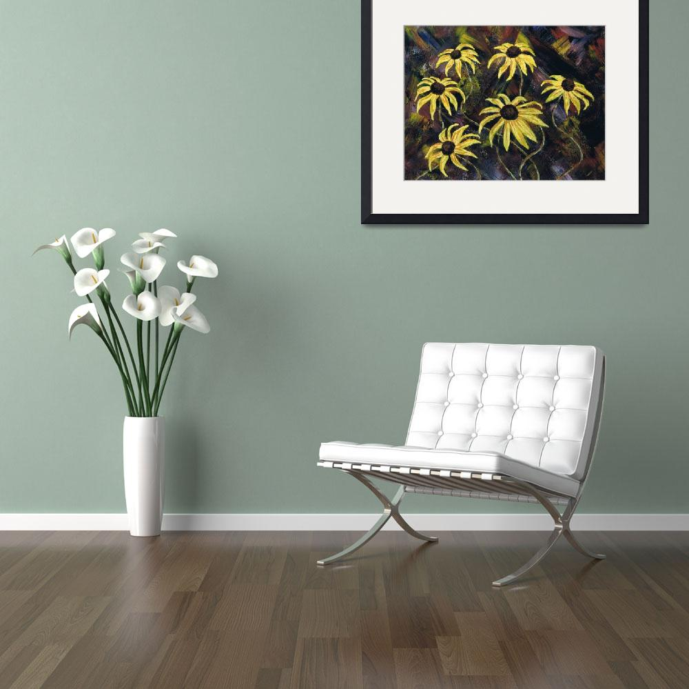 """""""yellow flowers""""  by rippleart"""