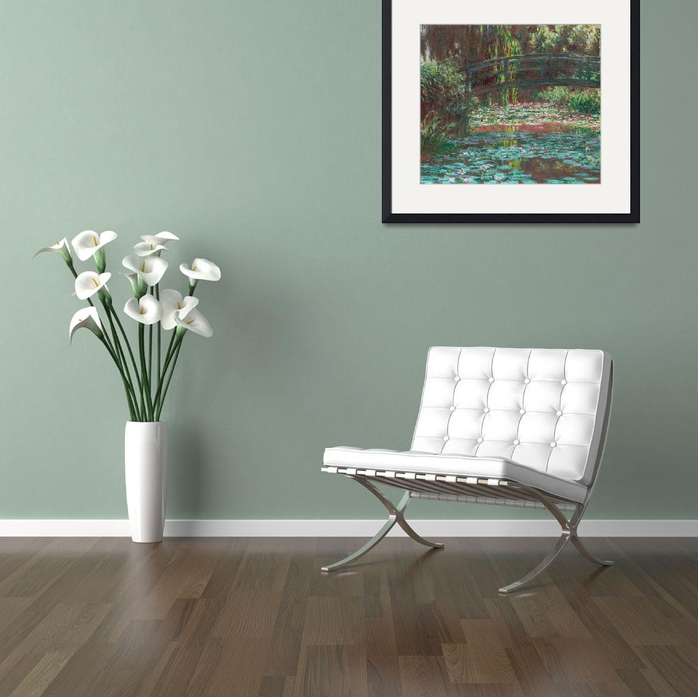 """Water Lily Pond by Claude Monet&quot  by FineArtClassics"