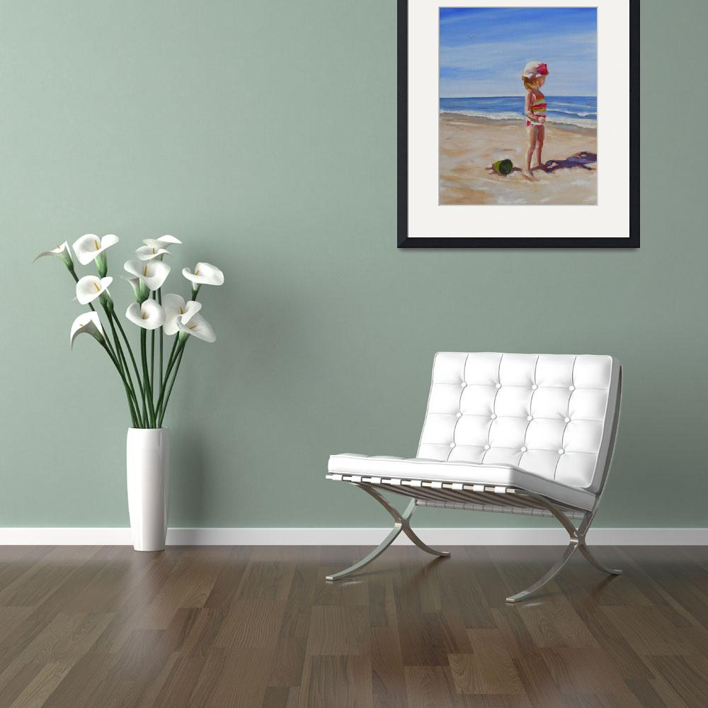 """""""Riley - Toes in the Sand&quot  (2014) by susanmartell"""