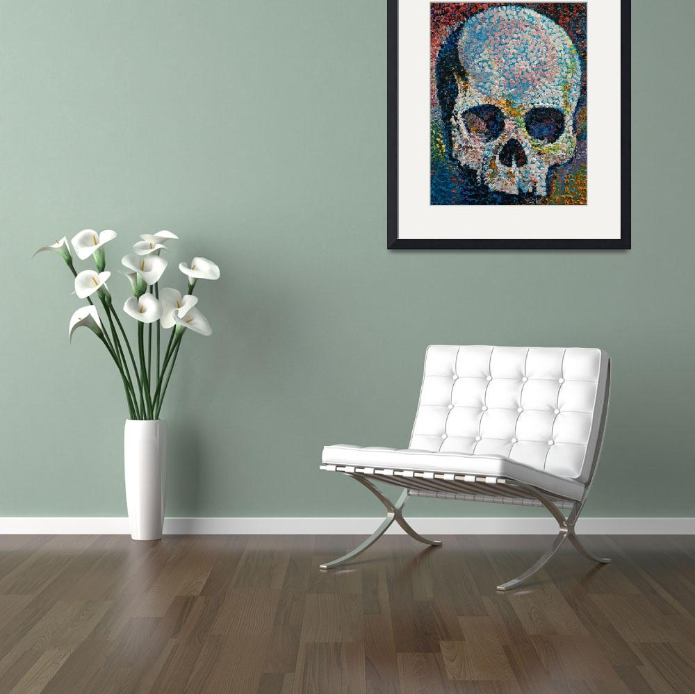 """""""Pointillism Skull&quot  by creese"""