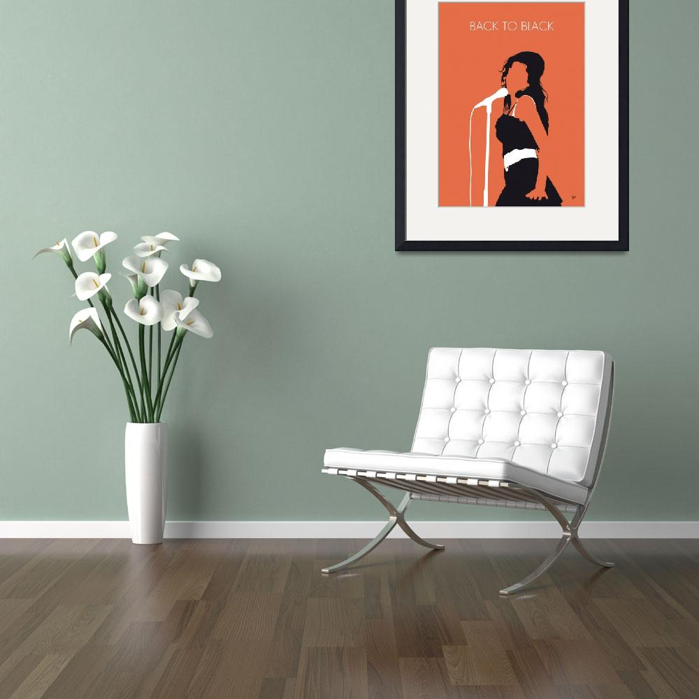 """""""No133 MY AMY WINEHOUSE Minimal Music poster&quot  by Chungkong"""