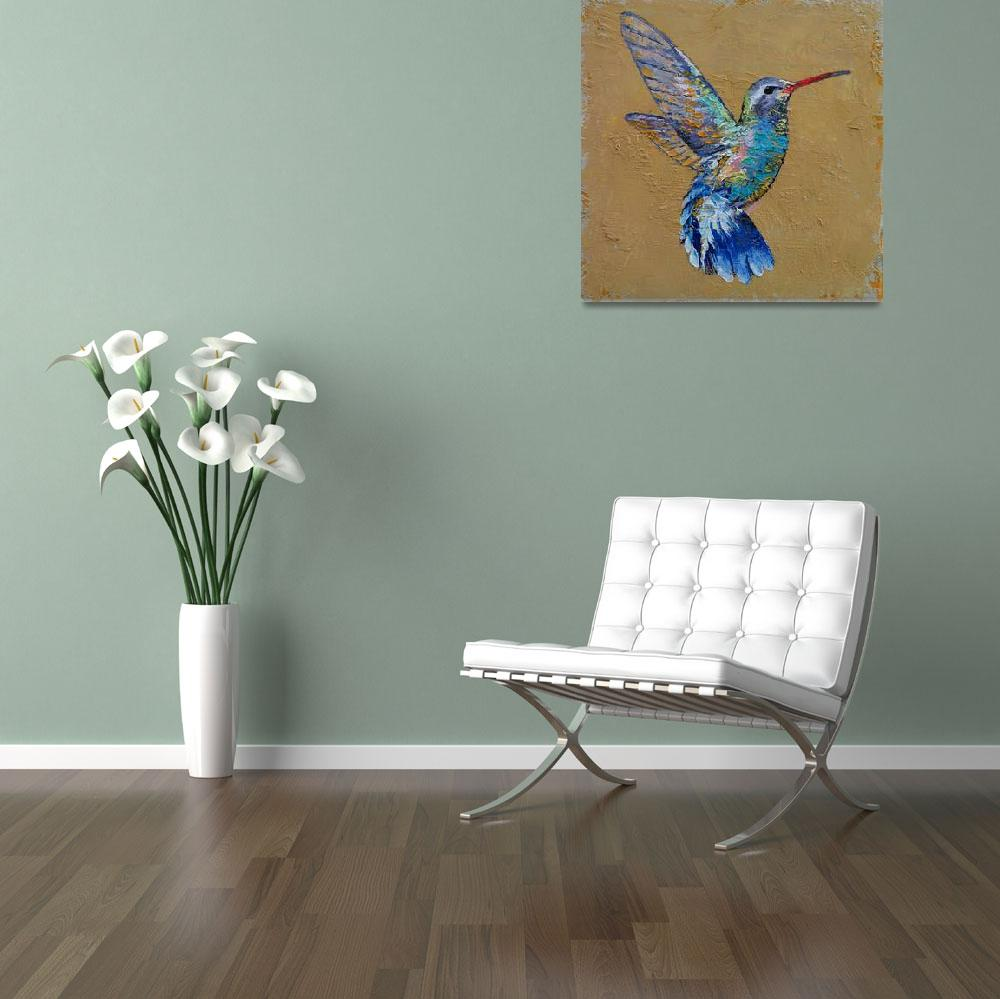 """Turquoise Hummingbird&quot  by creese"