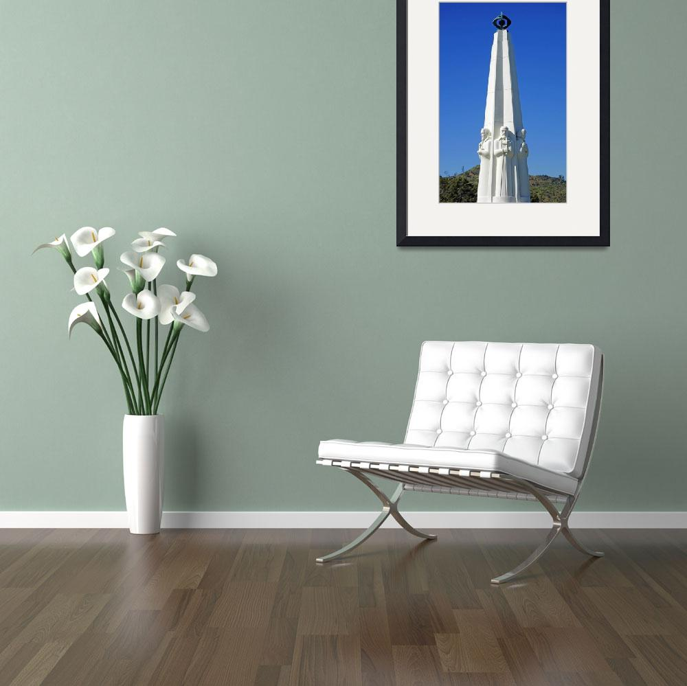 """""""Griffith Observatory Obelisk&quot  (2016) by robertmeyerslussier"""