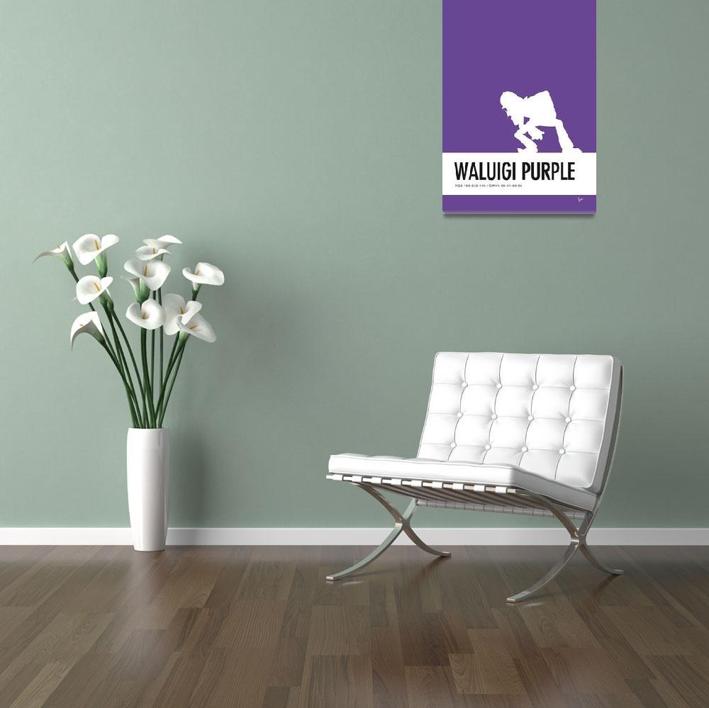 """""""No42 My Minimal Color Code poster Waluigi&quot  by Chungkong"""