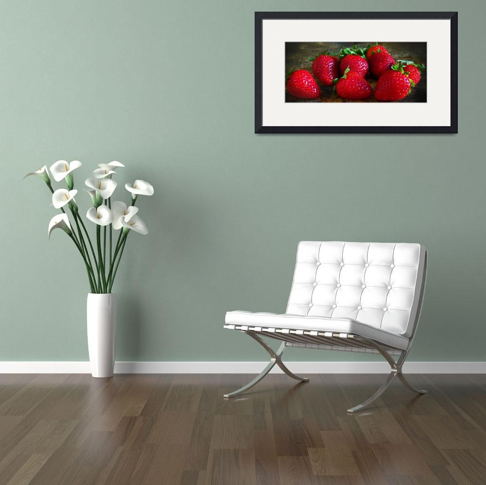 """""""Strawberries3&quot  (2011) by EMBlairArtwork"""