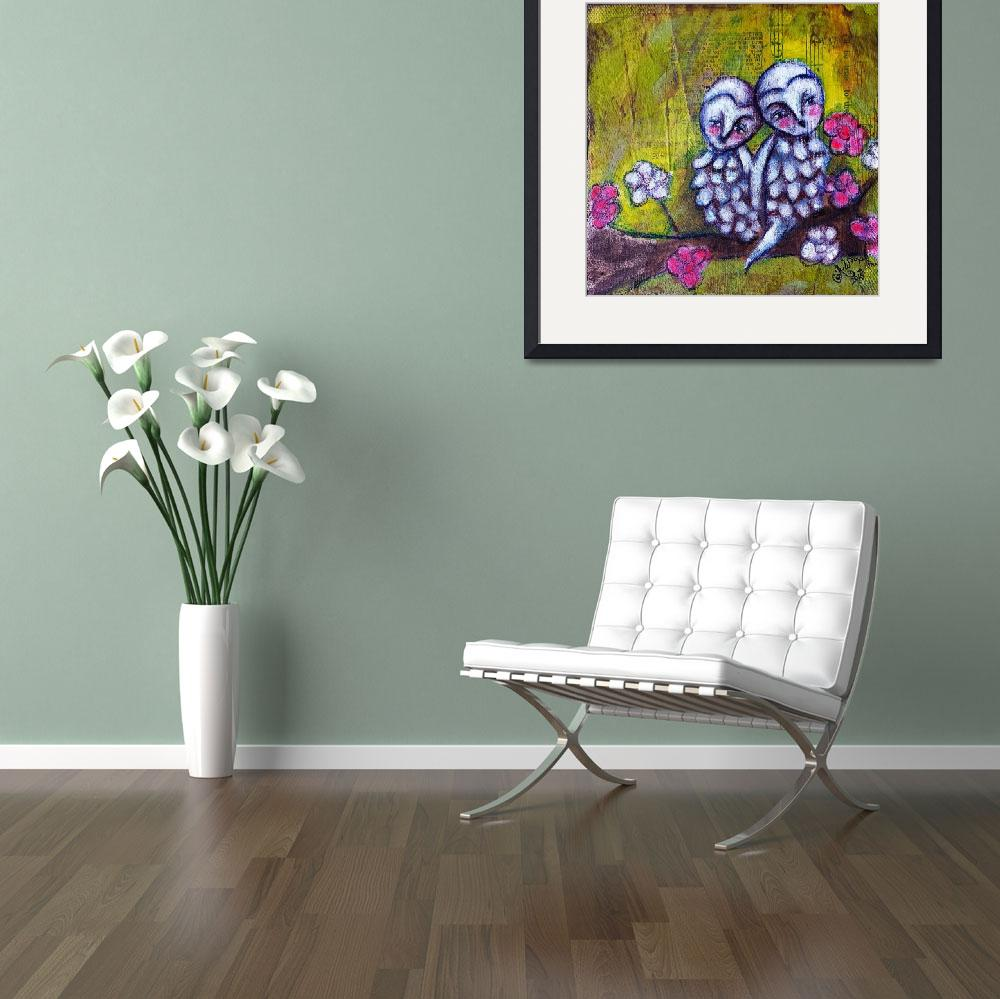 """""""Owlies&quot  (2015) by AllisonWeeksThomas"""