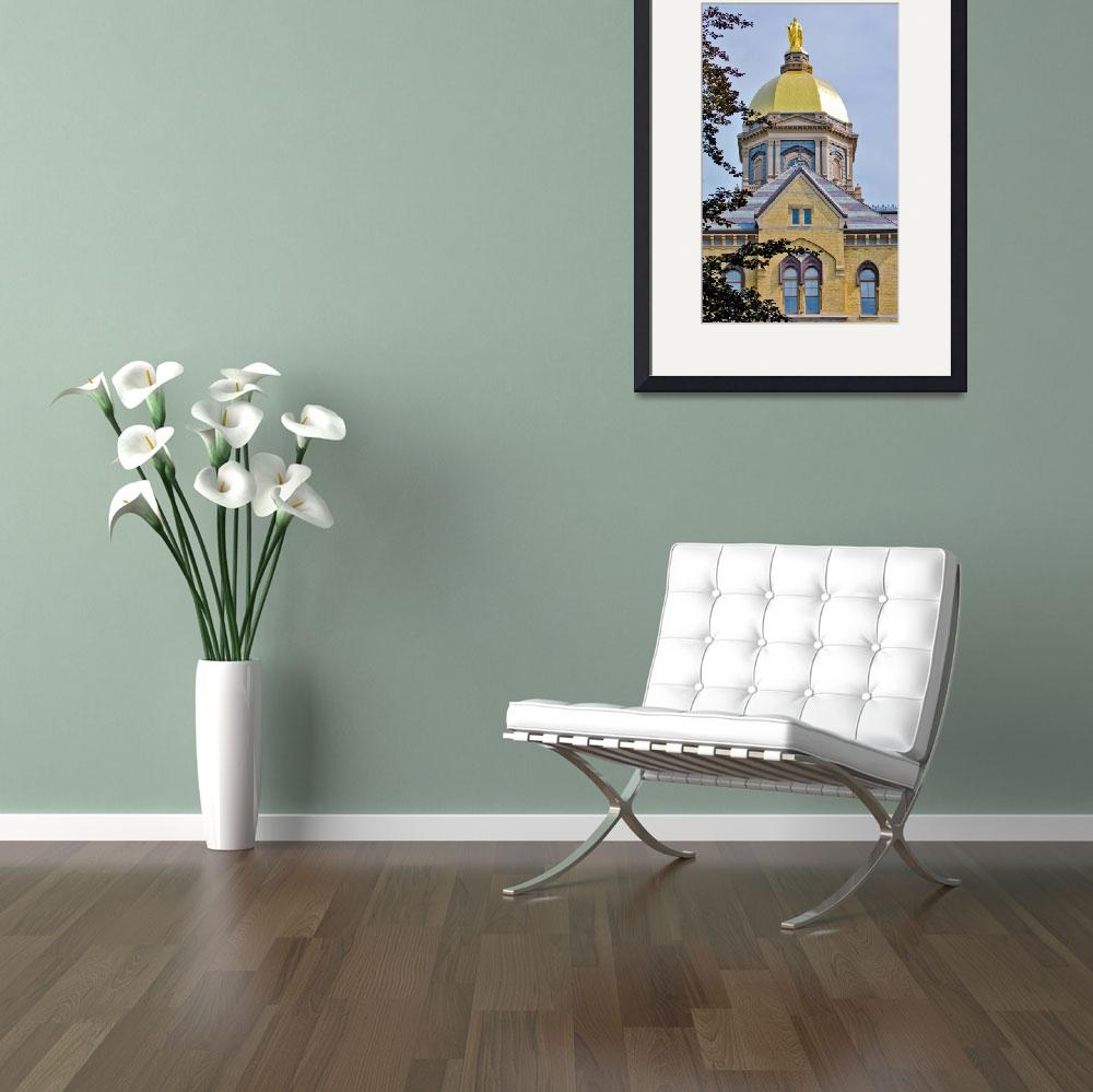 """""""Notre Dame Gold Dome&quot  (2009) by lwoodburn"""
