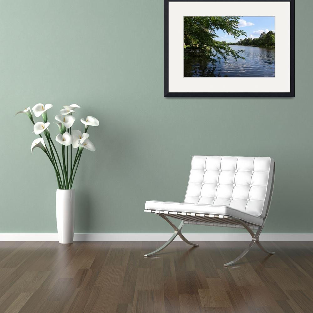 """""""Lake view in spring (a)&quot  (2014) by yunyi"""