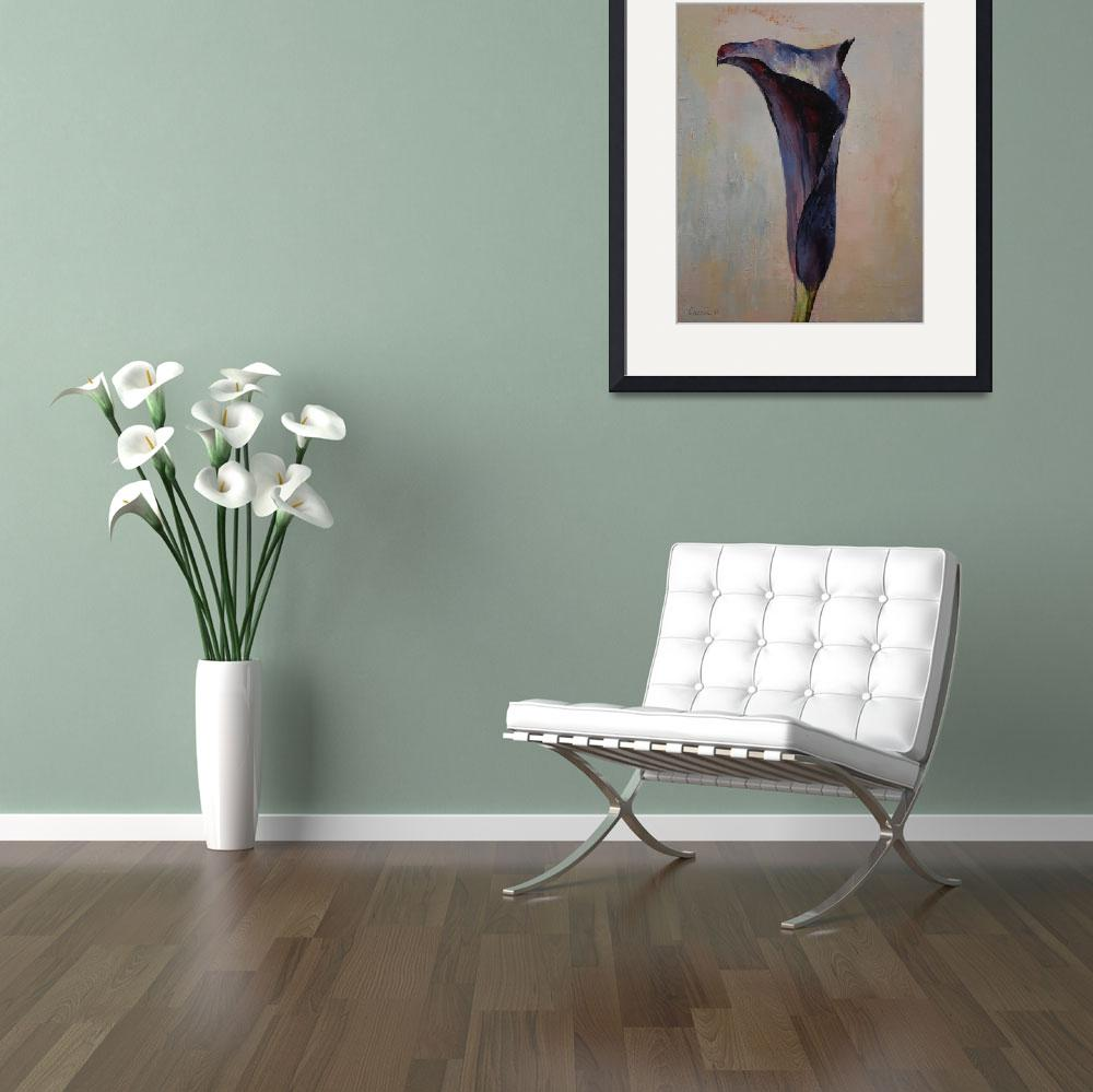 """""""Black Calla Lily&quot  by creese"""