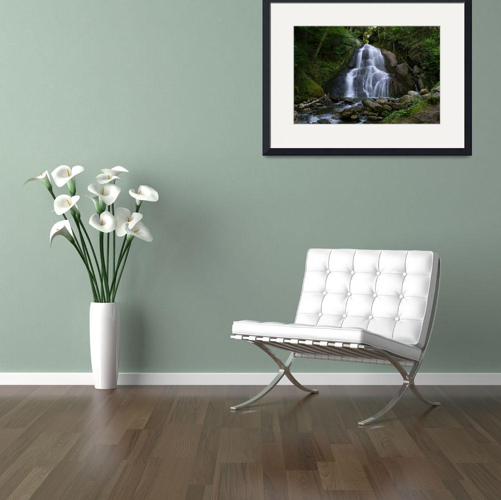 """""""Moss Glen Falls&quot  (2008) by NewEnglandPhotography"""