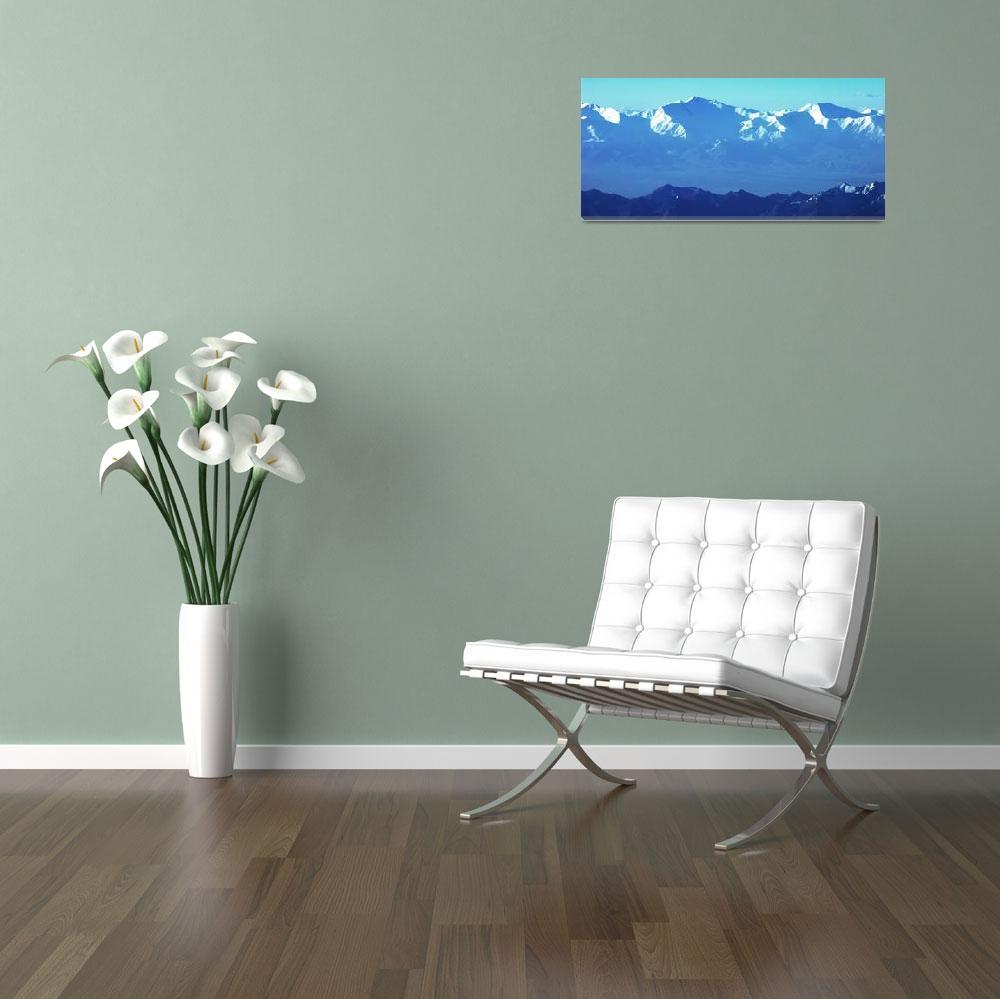 """Ibn Sina Peak Panorama Color 2""  (2006) by Liberando4Life"