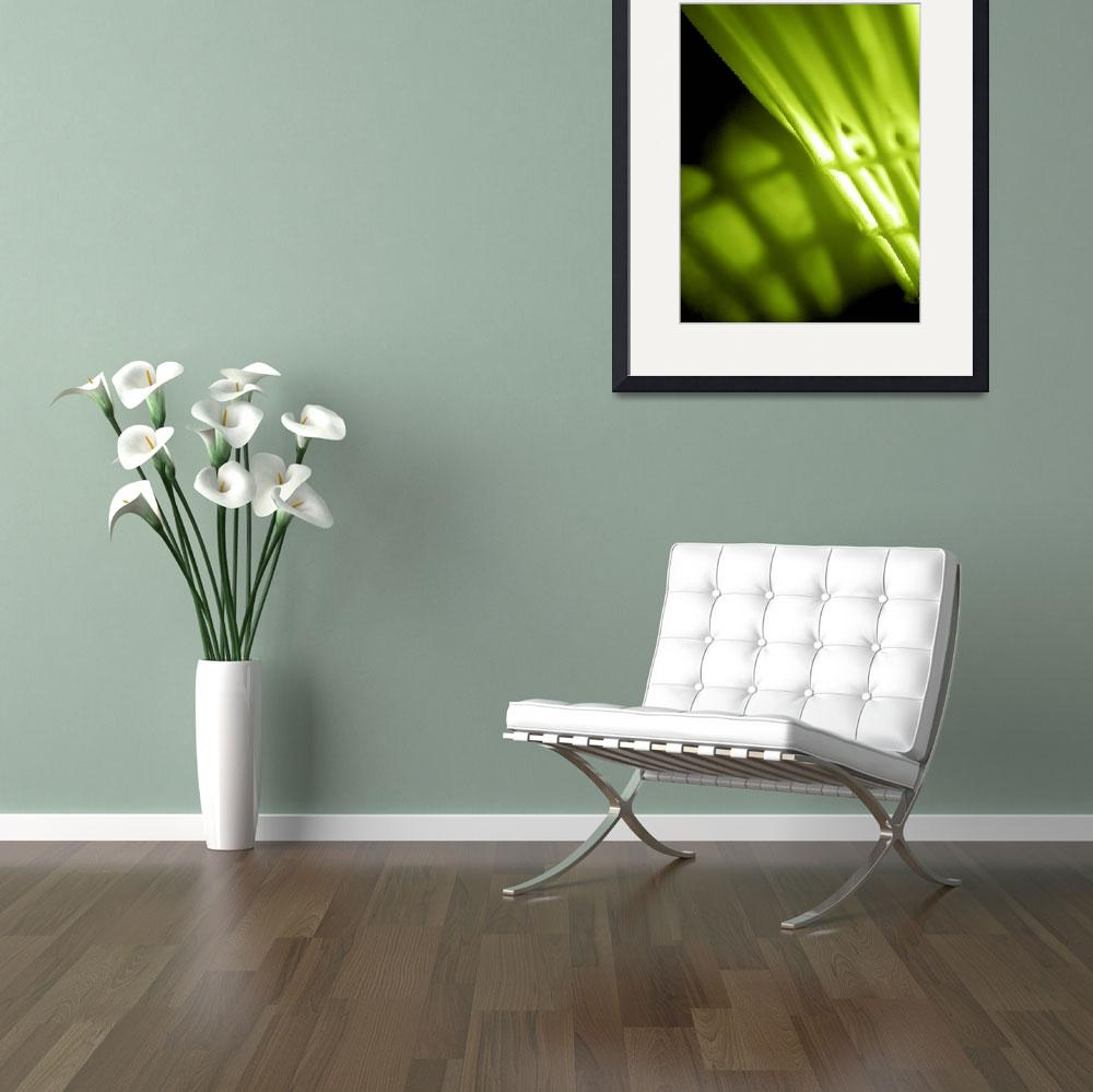"""Lime Green Abstract Wal lArt""  by NatalieKinnear"