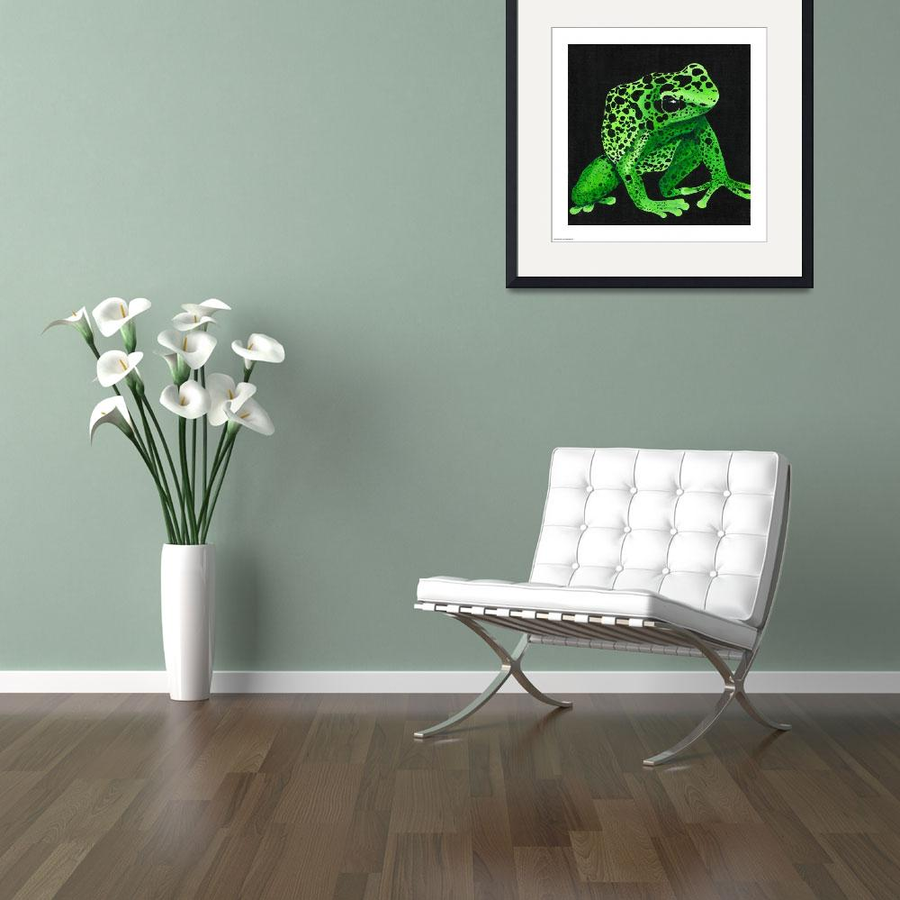 """Green Poison Arrow Frog&quot  (2010) by odessa"