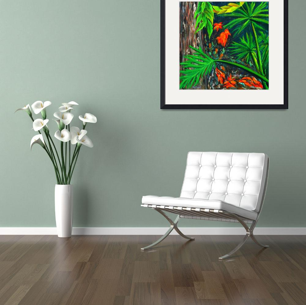 """""""""""Philodendrons"""" original acrylic painting&quot  (2007) by marnold"""