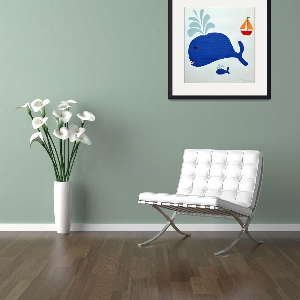 """""""Blue Whale Family&quot  (2013) by KYoungSeries"""