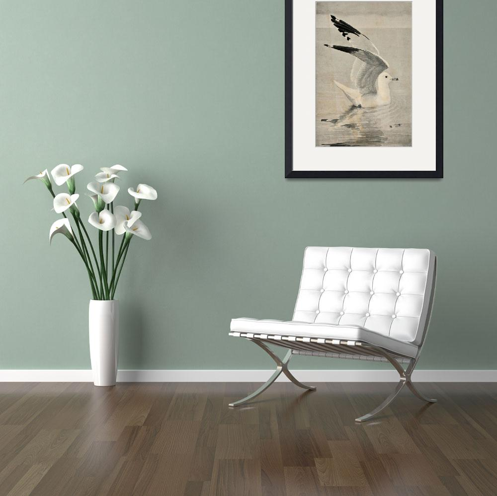 """""""Vintage Illustration of a Seagull (1902)&quot  by Alleycatshirts"""