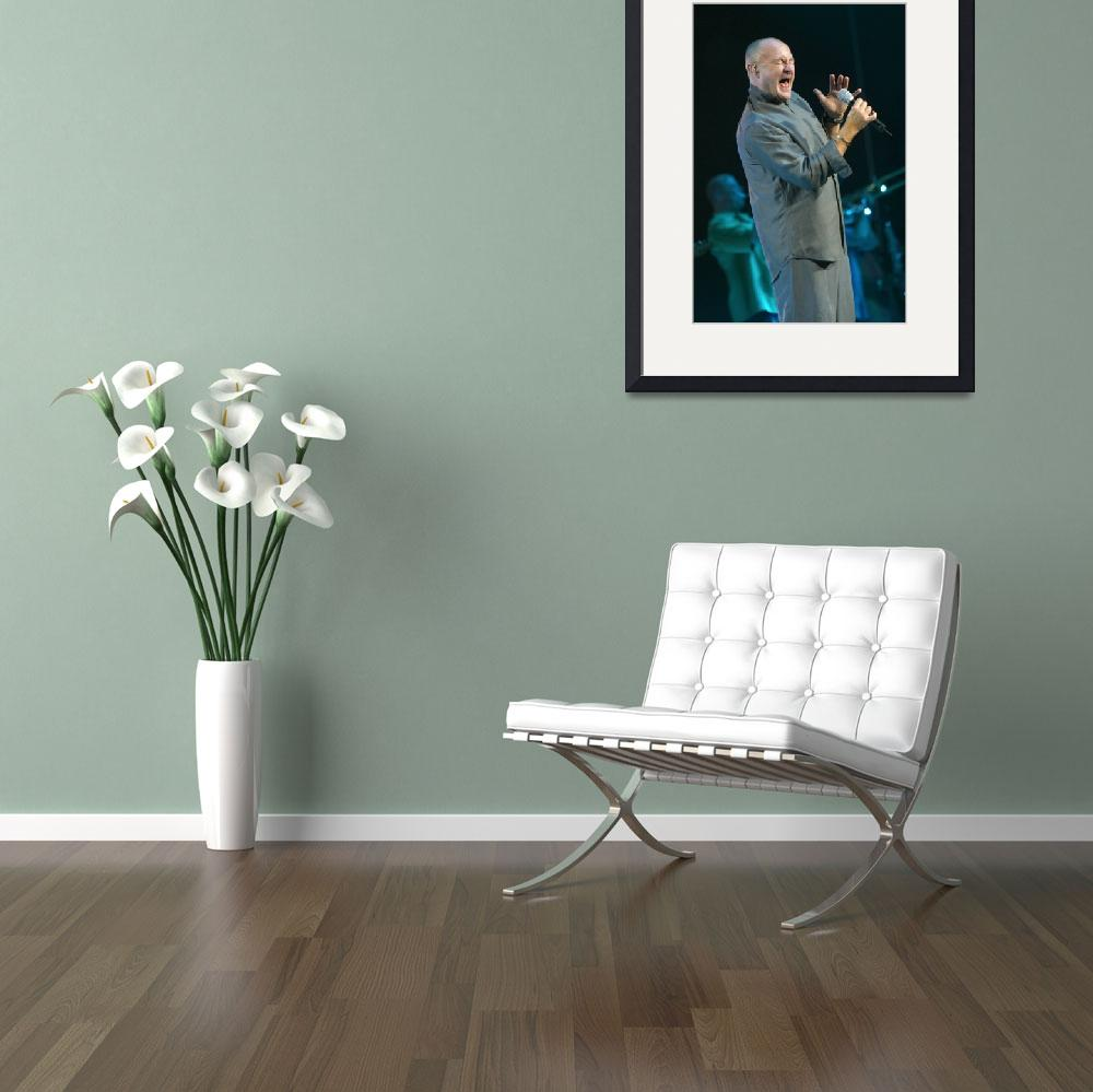 """Musician Phil Collins&quot  by FrontRowPhotographs"