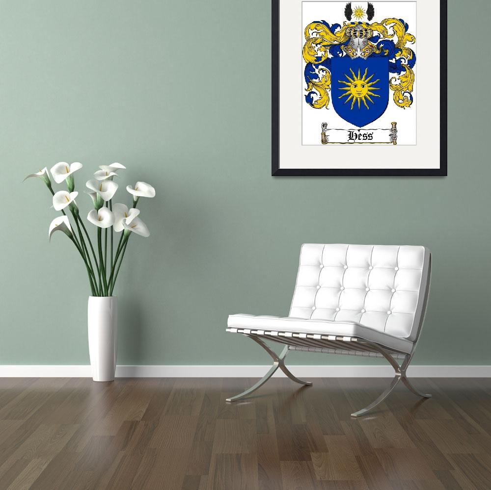 """""""HESS FAMILY CREST - COAT OF ARMS""""  by coatofarms"""