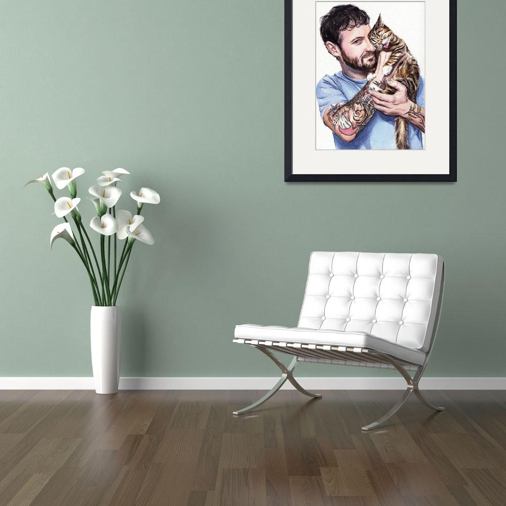"""""""Lil Bub and Her Dude&quot  (2014) by KellyEddington"""