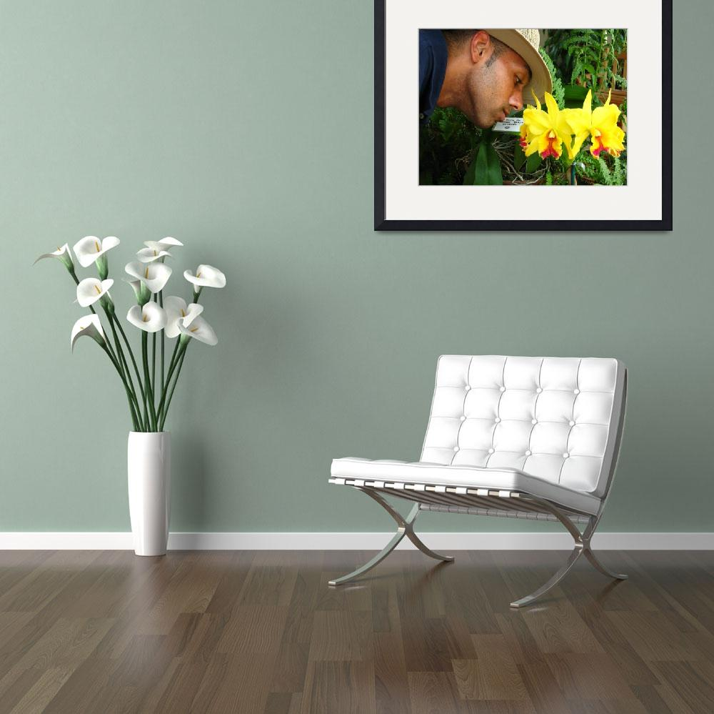 """""""Man Smelling Flowers&quot  (2008) by KeatingTravels"""