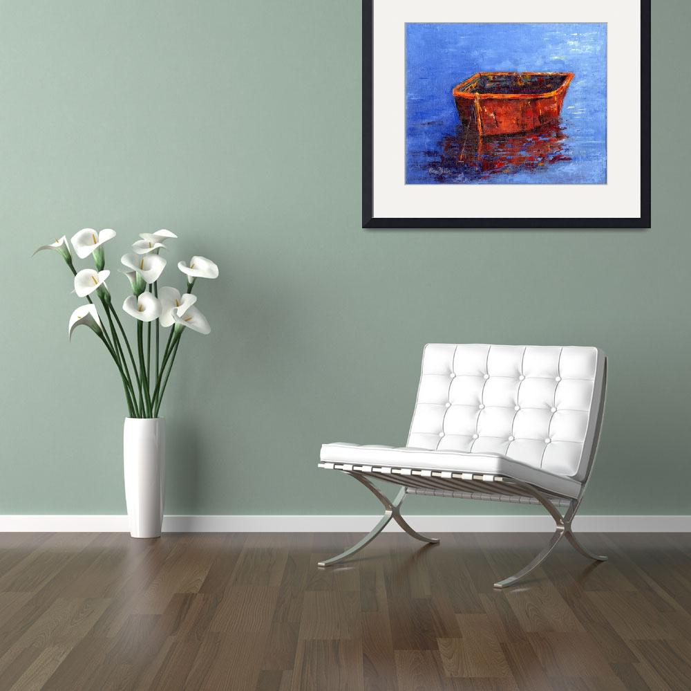 """""""Red Boat""""  (2013) by rosiephillips"""