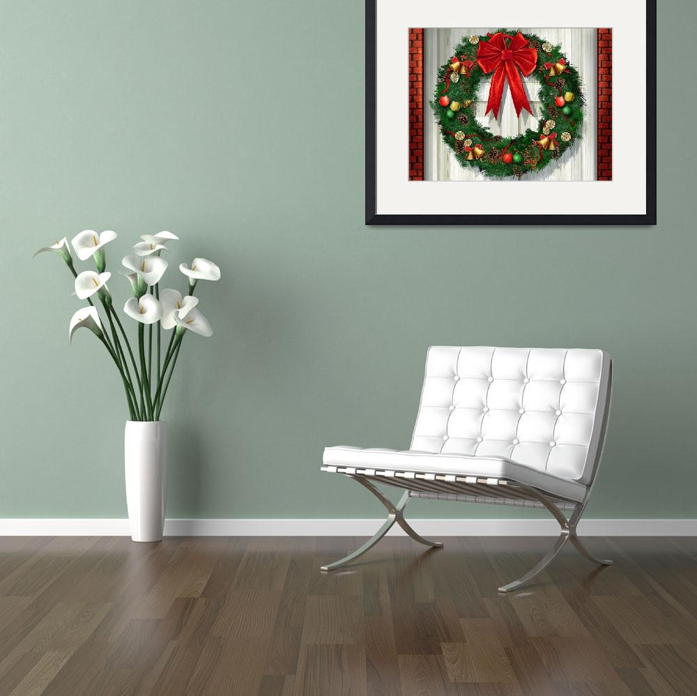 """""""Christsmas Holiday Wreath&quot  (2015) by AnswersFound"""